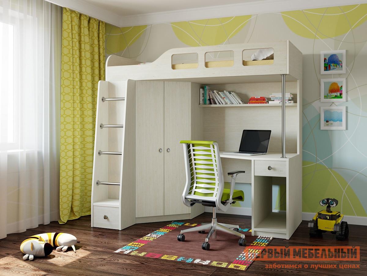 Детская двухъярусная кровать РВ Мебель Астра-7 Дуб молочный Дуб Молочный от Купистол