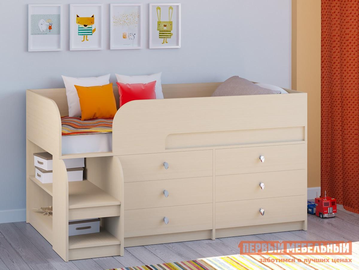 Детская двухъярусная кровать РВ Мебель Двухъярусная кровать Астра-9 Дуб молочный V3 Дуб Молочный от Купистол
