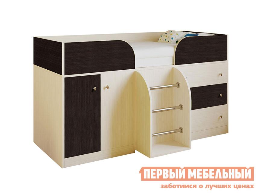 Кровать-чердак  Кровать-чердак Астра-5 Дуб Молочный, Венге — Кровать-чердак Астра-5 Дуб Молочный, Венге