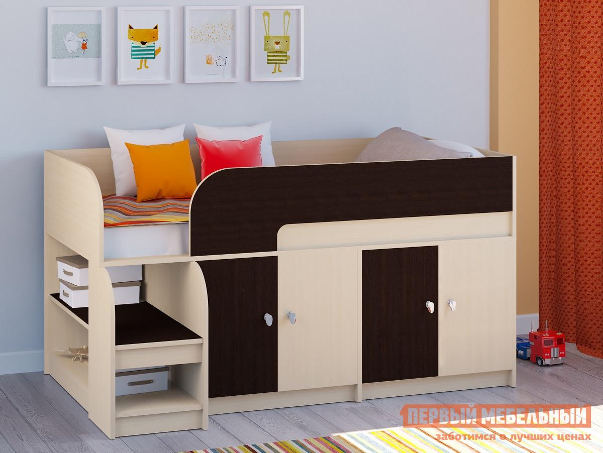 Детская двухъярусная кровать РВ Мебель Двухъярусная кровать Астра-9 Дуб молочный V2 Дуб Молочный / Венге от Купистол