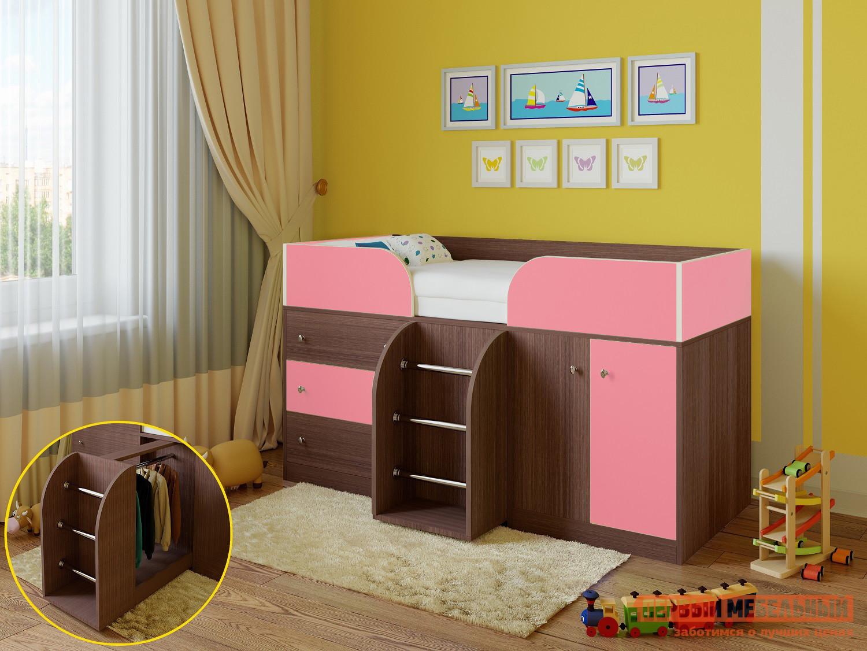 Кровать-чердак для детей от 3 лет РВ Мебель Астра-5 Дуб Шамони рв мебель м 85 дуб шамони салатовый