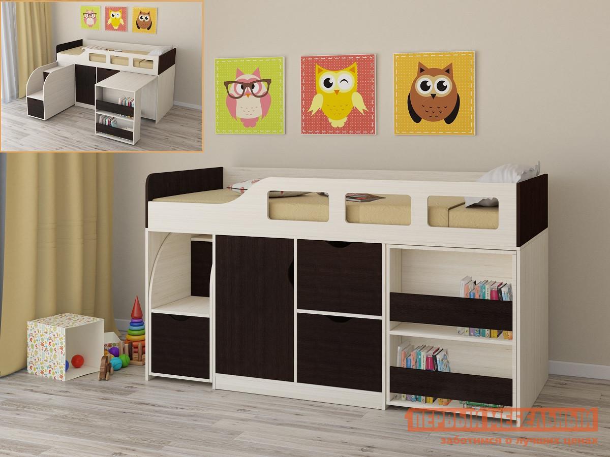 Детская двухъярусная кровать РВ Мебель Астра-8 Дуб Молочный Дуб Молочный / Венге от Купистол