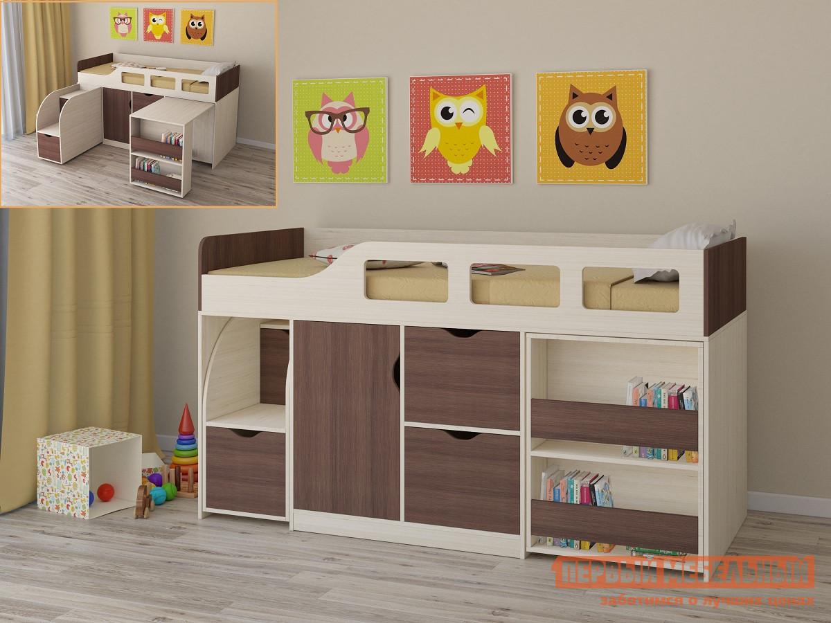 Детская двухъярусная кровать РВ Мебель Астра-8 Дуб Молочный Дуб Молочный / Дуб Шамони от Купистол