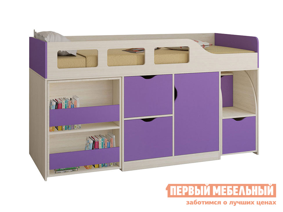 Кровать-чердак для детей от 3 лет РВ Мебель Кровать-чердак Астра-8
