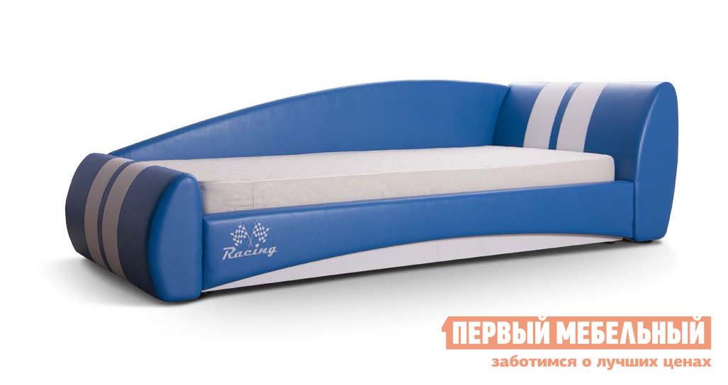 Кровать-машина Мирлачев Формула 900*1900 с ПМ Эко стайл 15/Эко стайл 01/Racing, Без матраса, Правый