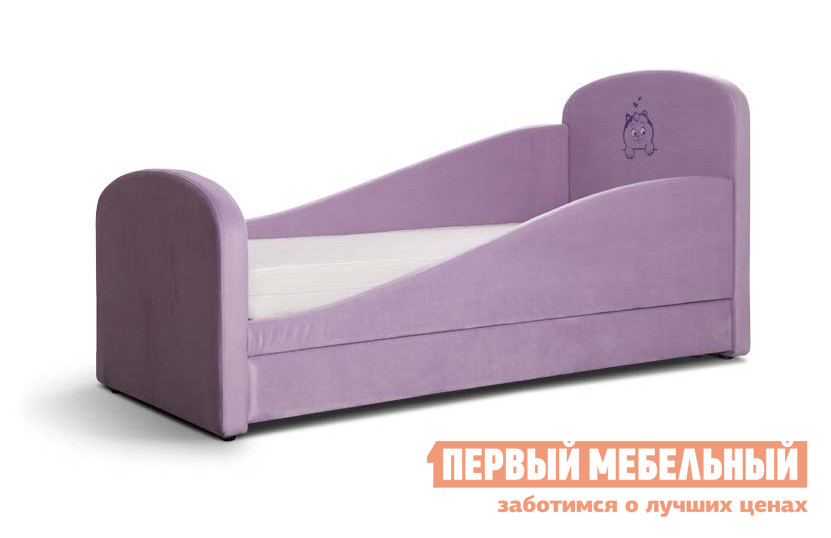 Детская кровать Мирлачев Тедди 1600*700 С матрасом, Левый, Банни 06 / МяуДетские кровати<br>Габаритные размеры ВхШхГ 910x1770x830 мм. Уютная кроватка подходит для детей возрастом от трех лет.  Элегантно изогнутые бортики предотвратят падение ребенка во время сна.  Разнообразие обивок позволит вам подобрать подходящую расцветку.  Изголовье кровати украшено симпатичной вышивкой. Модель имеет 2 варианта расположения: левое и правое.  Определяется по положению угла с высоким бортиком и рисунка в случае,если вы сидите на кровати. Не забудьте выбрать необходимый вариант при покупке. Размер спального места: 1600 х 700 мм. Максимальная нагрузка на кровать — 80 кг. В основании расположен вместительный выдвижной ящик, который позволит хранить постельное белье или игрушки.  Изделие выполнено из гипоаллергенных материалов, обивка — велюр.  Обратите внимание! Необходимо выбрать удобный для вас вариант покупки кровати: с матрасом или без него. Матрас, который входит в комплект, имеет высоту 12 см. Модель с двухсторонней жесткостью (с одной стороны менее жесткий, с другой — более).  Внутреннее наполнение:кокосовая койра,спанбонд,пружинный блок «Боннель»,теромвойлок,поролон 15 мм. Чехол — хлопковый жаккард 30 %.<br><br>Цвет: Фиолетовый<br>Цвет: Розовый<br>Высота мм: 910<br>Ширина мм: 1770<br>Глубина мм: 830<br>Кол-во упаковок: 3<br>Форма поставки: В разобранном виде<br>Срок гарантии: 18 месяцев<br>Тип: Угловые<br>Тип: Одноярусные<br>Размер: Маленькие<br>Размер: Низкие<br>Размер: Спальное место 70Х160<br>С ящиками: Да<br>С мягким изголовьем: Да<br>С ящиком для белья: Да<br>С мягкой спинкой: Да<br>С бортиками: Да<br>С матрасом: Да<br>Возраст: От 3-х лет<br>Возраст: От 2-х лет<br>Возраст: От 4-х лет<br>Пол: Для девочек<br>Пол: Для мальчиков<br>Размер спального места: Односпальные