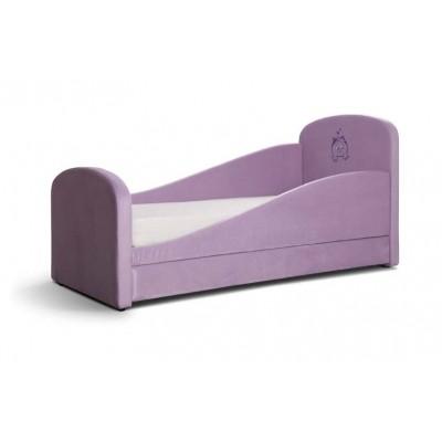 Детская кровать Мирлачев Тедди 1600*700 С матрасом, Правый, Банни 06 / Мяу