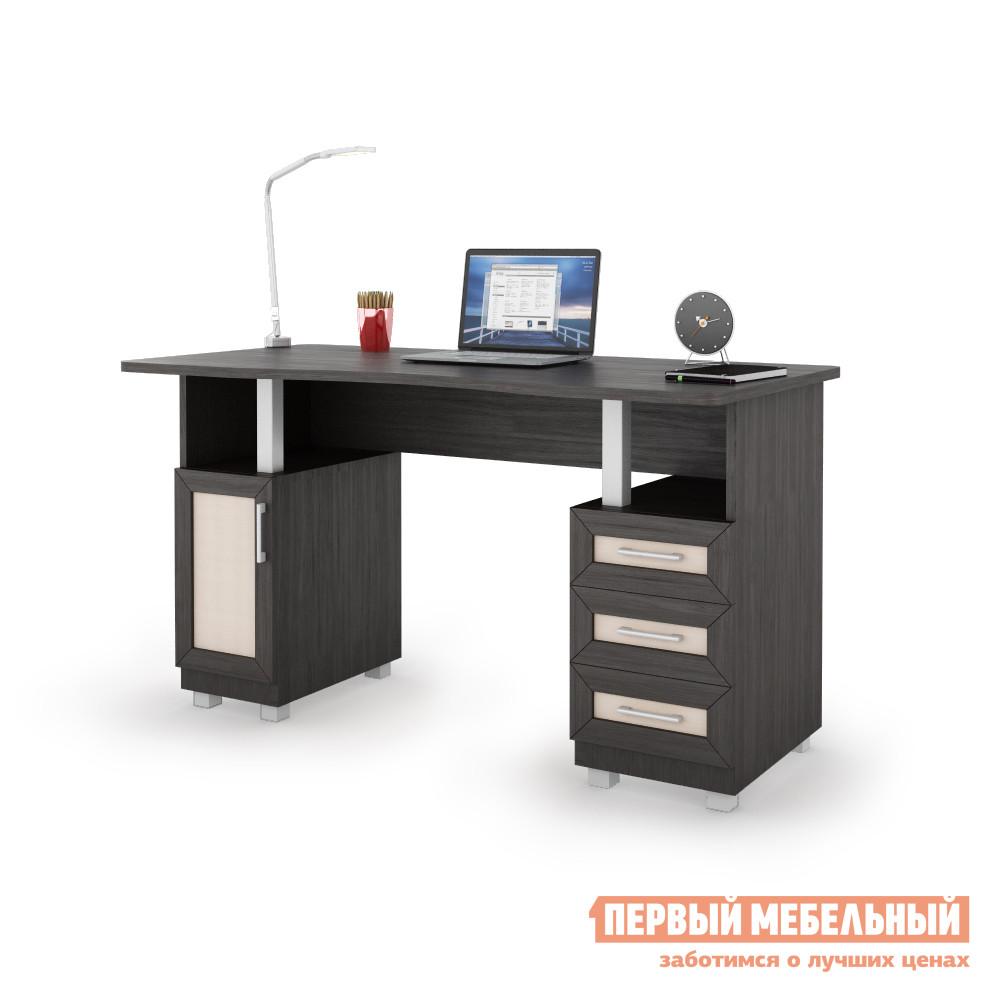 Компьютерный стол ВасКо СОЛО 021 Корпус венге / Фасад венге, молочный дуб