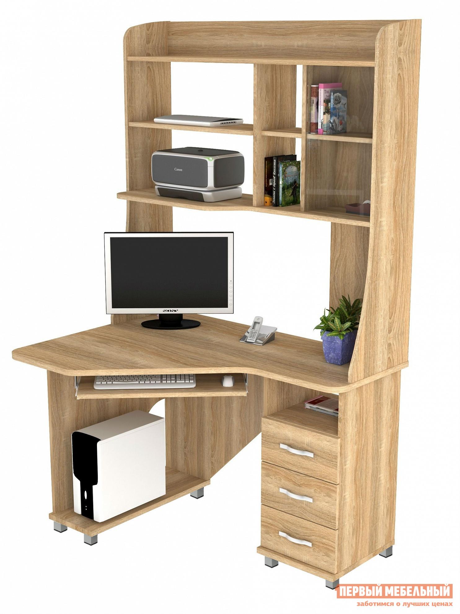 Угловой компьютерный стол с надстройкой ВасКо КС 20-29 м1 стол компьютерный васко кс 20 30 м1 дуб молочный