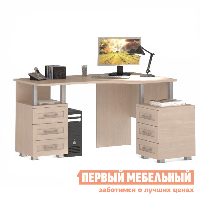 Угловой компьютерный стол ВасКо СОЛО 005 / 025 стол компьютерный васко соло 021 1104