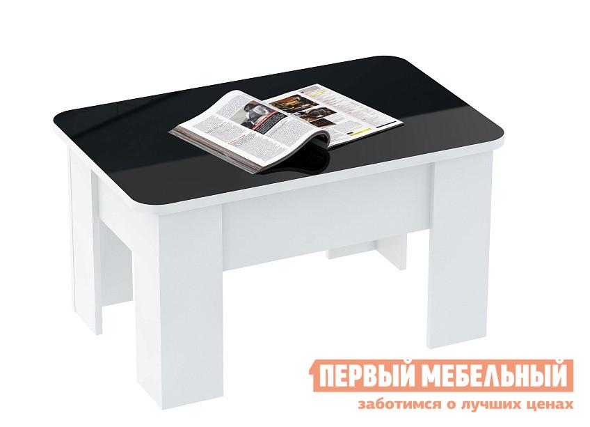 Журнальный столик ВасКо СТ 80-05 Белый глянец / Черный глянец