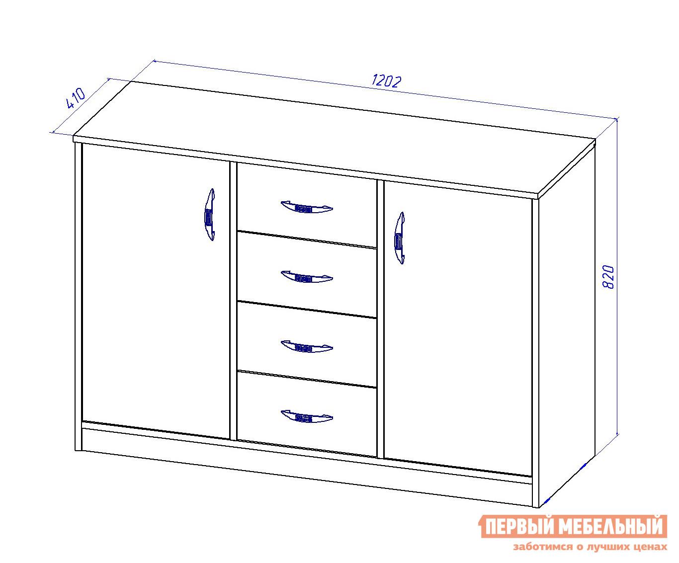 Схема тумбы с 3 ящиками