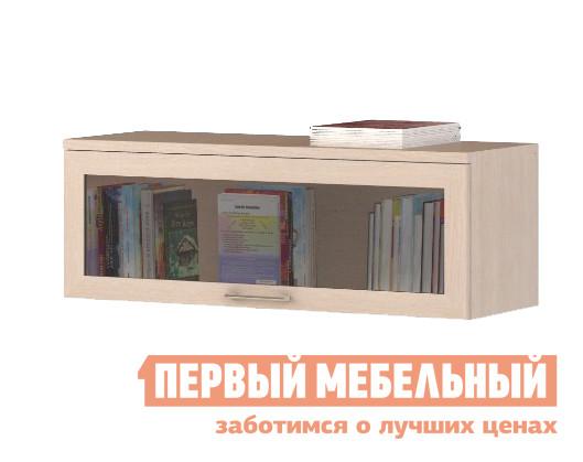 Настенная полка ВасКо СОЛО 009 Молочный дуб / Стекло