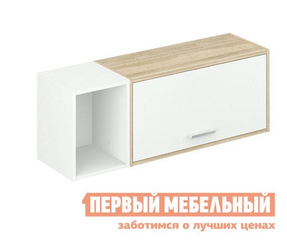 Настенная полка ВасКо Сканди 104 Дуб Сонома / Белый