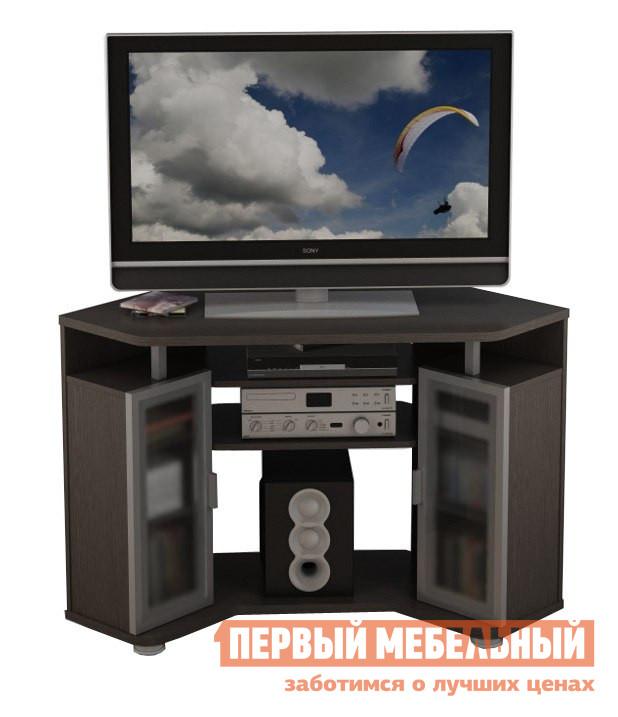 ТВ-тумба ВасКо ВТ 10-46 ВенгеТВ-тумбы<br>Габаритные размеры ВхШхГ 780x846x846 мм. Универсальная угловая тумба для аудио-видео аппаратуры. Модель имеет просторную столешницу и центральные съемные полки, за счет чего при необходимости данная модель может использоваться в качестве углового стола для ноутбука.  Кроме того у тумбы имеются два закрытых стеклянными дверцами ящика, где можно разместить компоненты и аксессуары для домашнего кинотеатра. Глубина до стены — 850 мм. Ширина места по телевизор — 1100 мм. Рекомендуется устанавливать телевизор диагональю от 32 до 47. Столешница и основание изготовлены из высококачественной ламинированной ДСП толщиной 22 мм, остальные детали &amp;amp;mdash; толщина 16 мм и облицованы высокопрочной кромкой ПВХ толщиной 1 мм.  Рамки стеклянных дверей выполнены из анодированного алюминия.  Стекло тонированное.  Тумба снабжена прочными регулируемыми опорами.<br><br>Цвет: Венге<br>Цвет: Венге<br>Высота мм: 780<br>Ширина мм: 846<br>Глубина мм: 846<br>Кол-во упаковок: 2<br>Форма поставки: В разобранном виде<br>Срок гарантии: 24 месяца<br>Тип: Угловые<br>Материал: Деревянные, из ЛДСП<br>Размер: Маленькие<br>Особенности: 2 ящика