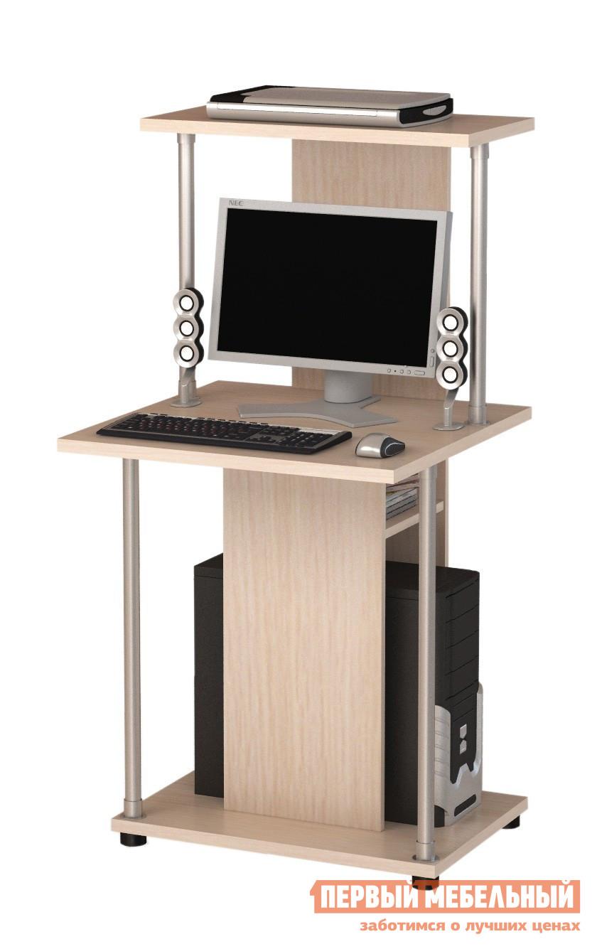 Компьютерный стол ВасКо КС 20-32 М1 Молочный дубКомпьютерные столы<br>Габаритные размеры ВхШхГ 1260x600x600 мм. Компактный компьютерный стол. Столешница стола, надстройка и основание изготовлены из ЛДСП толщиной 22мм, остальное - 16 мм, и облицованы высокопрочной кромкой АБС толщиной 1мм.  Самый компактный стол из данной серии оснащен подставкой под системный блок, над которой находится небольшая полка для мелких аксессуаров, и надстройкой, где можно разместить небольших размеров принтер.  Конструкция стола позволяет производить сборку, как с левосторонним, так и с правосторонним доступом к вышеуказанной полке. Благодаря малым размерам, данная модель отлично подойдет для малогабаритных помещений.<br><br>Цвет: Молочный дуб<br>Цвет: Светлое дерево<br>Высота мм: 1260<br>Ширина мм: 600<br>Глубина мм: 600<br>Кол-во упаковок: 1<br>Форма поставки: В разобранном виде<br>Срок гарантии: 24 месяца<br>Тип: Прямые<br>Материал: Деревянные, из ЛДСП<br>Размер: Маленькие, Шириной 60 см<br>Особенности: С надстройкой, С полками