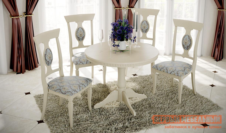 Обеденная группа для столовой и гостиной ТриЯ Стол Орландо Т1 + Денвер Тип 1 обеденная группа для столовой и гостиной mr kim обеденная группа ra t4ex и 4 стула ra sc
