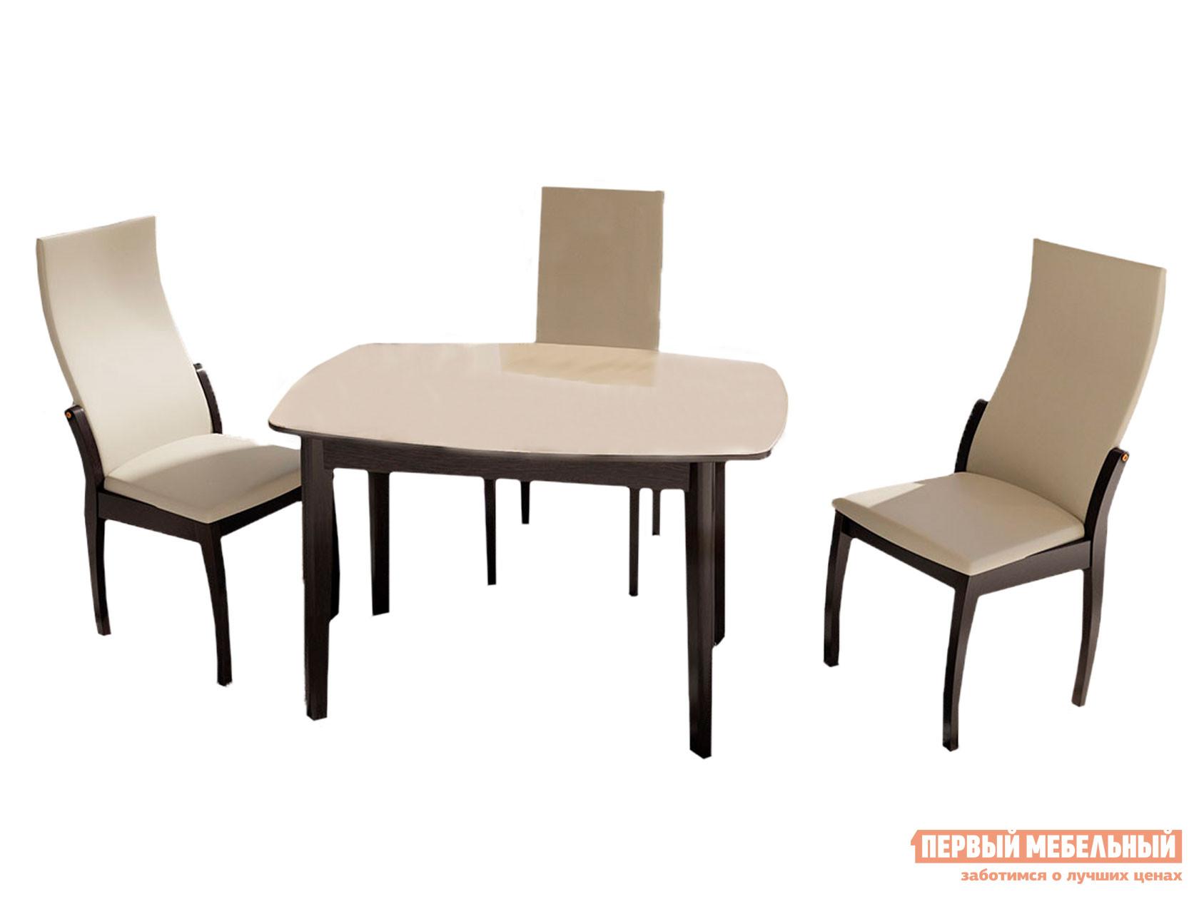 Обеденная группа для столовой и гостиной ТриЯ Обеденная группа: стол «Портофино», стулья «Бруклин Тип 1»