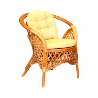 Плетеное кресло ЭкоДизайн 1305В Коньяк