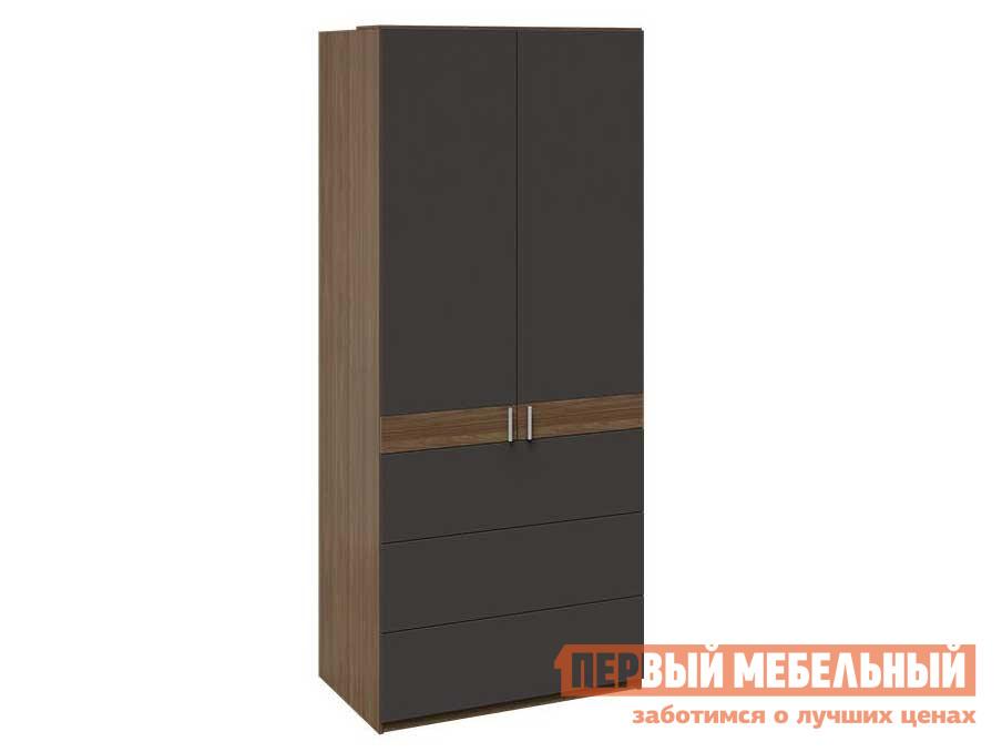 Шкаф распашной ТриЯ Харрис ТД-302.07.06 Шкаф комбинированный с 3 ящиками все цены