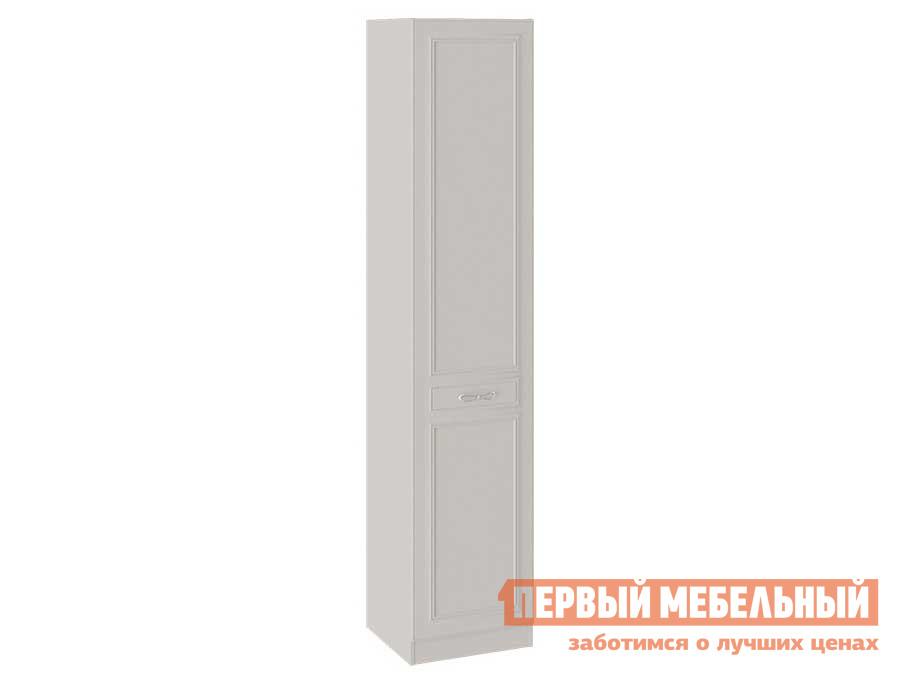 Шкаф распашной  Сабрина СМ-307.07.010 Шкаф для белья с 1 глухой дверью Кашемир, Левый, С топом-накладкой