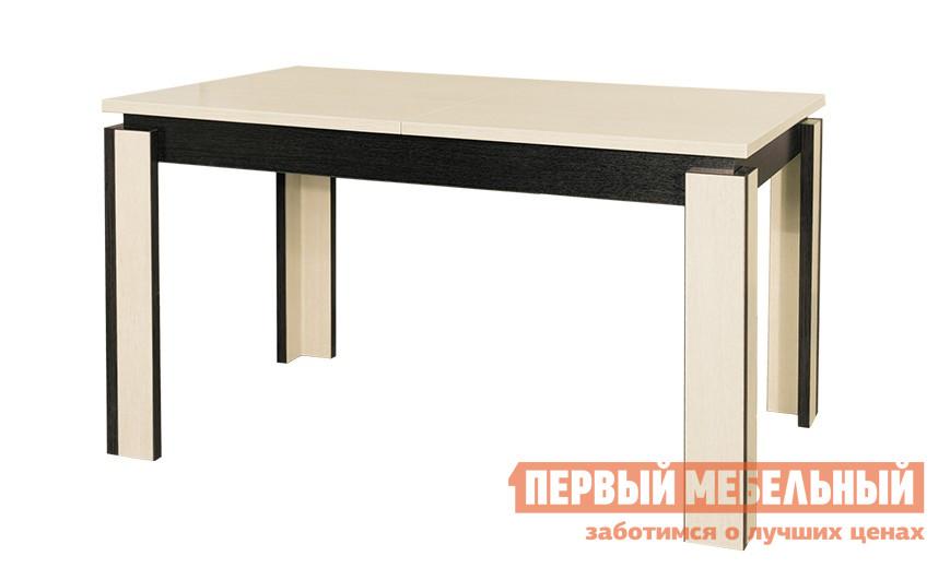 Обеденный стол Бештау Диез Т6 С-310  Дуб Беловежский / Дуб СильверСтолы в гостиную<br>Габаритные размеры ВхШхГ 755x1200 / 1650x760 мм. Стильное оформление прочного стола не только подчеркнёт современный дизайн кухни или столовой, но и придаст помещению атмосферу уюта.  Удобная конструкция модуля позволяет мгновенно трансформировать небольшой компактный столик, он легко раздвигается и превращается в просторное место для семейных обедов. Каркас стола и подстолье выполнены из массива бука, столешница - из ЛФБ (мебельной плиты, облицованной декоративным пластиком). Размер столешницы в разложенном виде 1650 х 760 мм;стол рассчитан на 6 посадочных мест.<br><br>Цвет: Темное-cветлое дерево<br>Высота мм: 755<br>Ширина мм: 1200 / 1650<br>Глубина мм: 760<br>Форма поставки: В разобранном виде<br>Срок гарантии: 2 года<br>Тип: Раздвижные<br>Тип: Трансформер<br>Материал: Дерево<br>Материал: Пластик<br>Материал: Натуральное дерево<br>Порода дерева: Бук<br>Форма: Прямоугольные<br>Размер: Маленькие