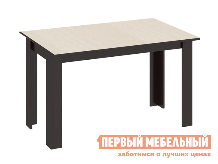 Обеденный стол ТриЯ Кантри Т1 Венге / Дуб молочныйСтолы в гостиную<br>Габаритные размеры ВхШхГ 710x1100x700 мм. Стильный обеденный стол, выполненный в лаконичном дизайне прямых линий.  Такая модель будет отлично гармонировать как с классическим, так и современным интерьером кухни или столовой зоны. Изделие производится из ЛДСП.<br><br>Цвет: Венге / Дуб молочный<br>Цвет: Темное-cветлое дерево<br>Высота мм: 710<br>Ширина мм: 1100<br>Глубина мм: 700<br>Кол-во упаковок: 1<br>Форма поставки: В разобранном виде<br>Срок гарантии: 24 месяца<br>Материал: Деревянные, из ЛДСП<br>Форма: Прямоугольные<br>Размер: Маленькие