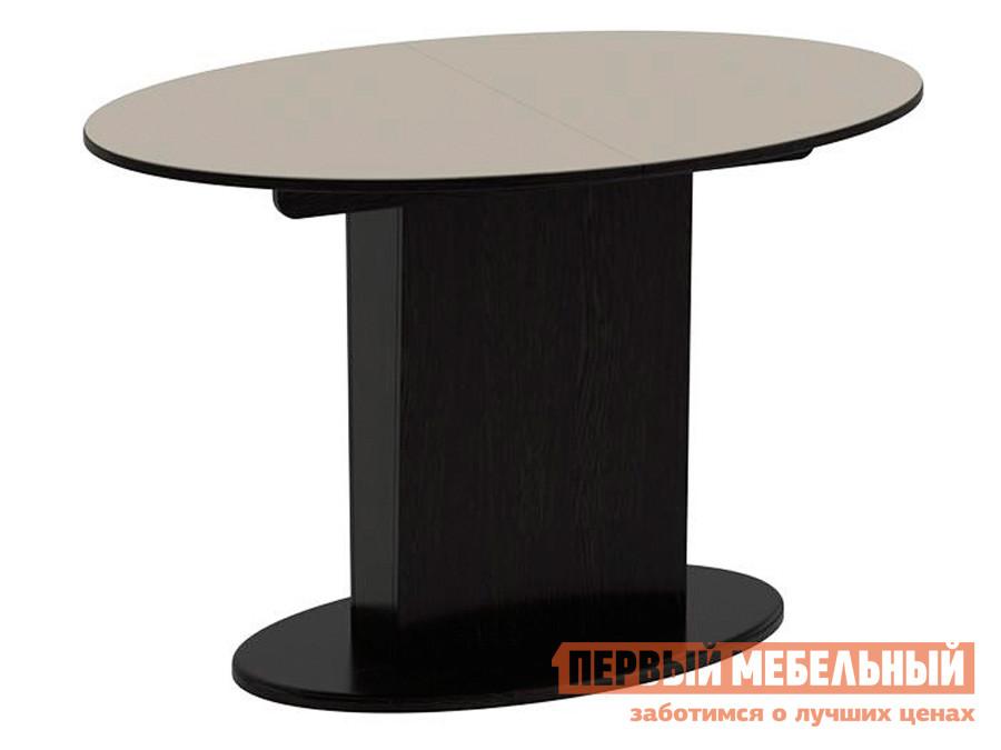 Обеденный стол  Обеденный стол Марсель Венге / Бежевое стекло глянец, Малый
