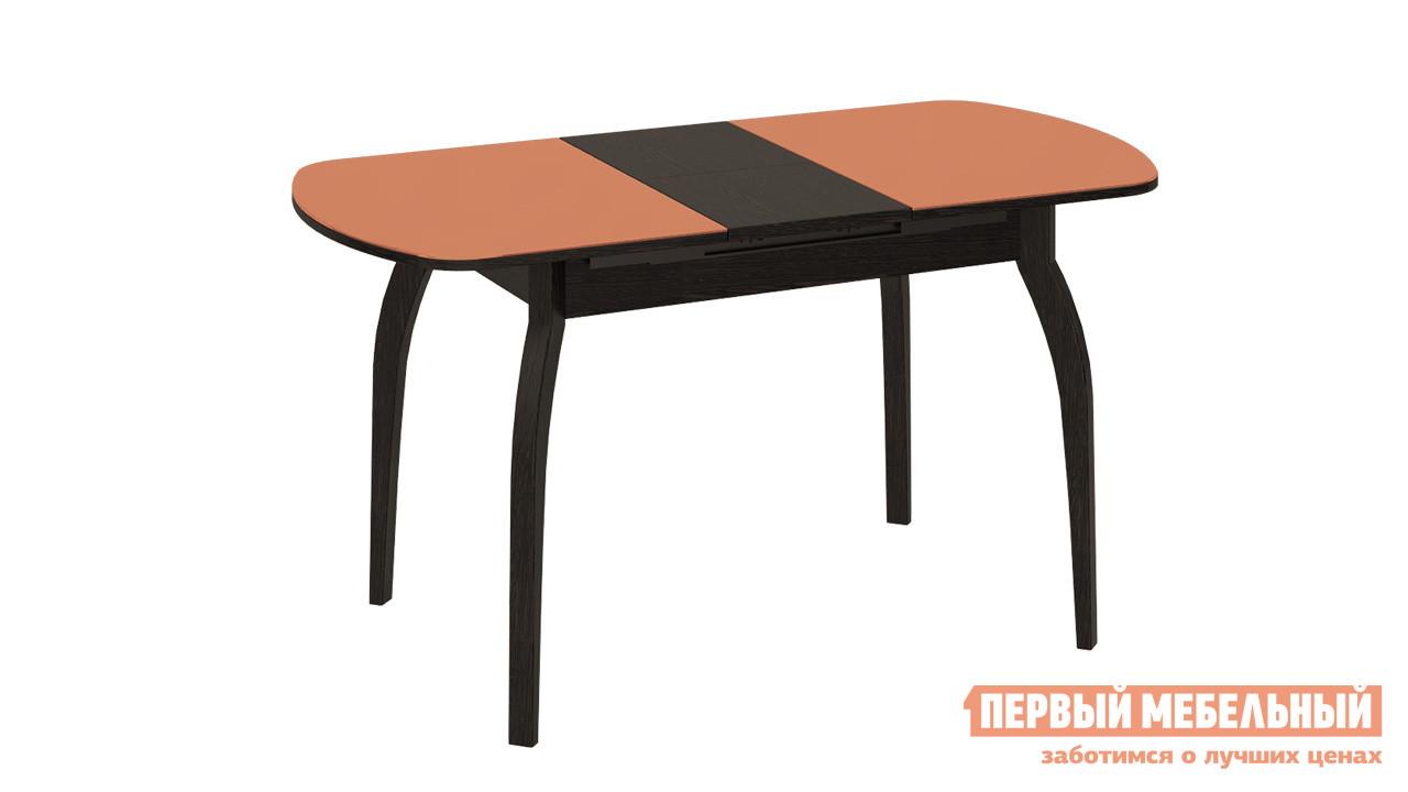 Раздвижной обеденный стол ТриЯ СМ-203.22.15 раздвижной обеденный стол трия см 218 01 15 венге стекло бежевое с рисунком