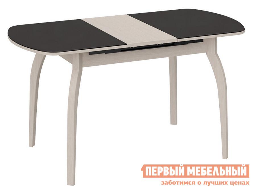Кухонный стол  СМ-203.22.15 Дуб Белфорт / Коричневое стекло глянец