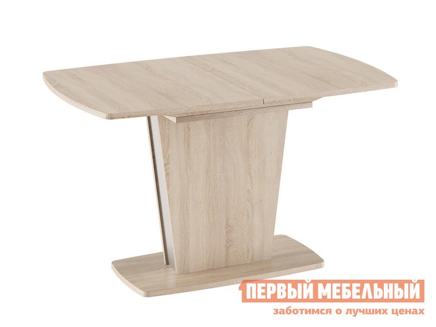 Кухонный стол Ливерпуль Стол обеденный Дуб Сонома / Металлик, Средний фото