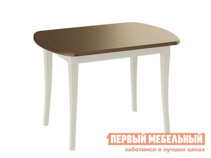 Обеденный стол  Стол Альт Слоновая кость / Орех темный, Средний