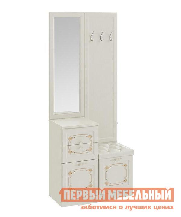 Комбинированная вешалка с зеркалом и крючками ТриЯ ТД-235.08.03 полка комбинированная мебель трия прованс тд 223 03 21