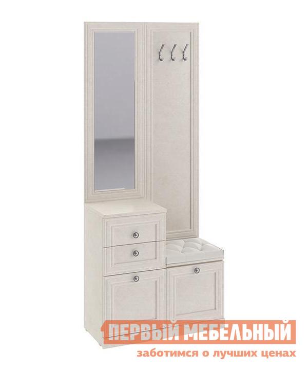 Комбинированная вешалка с зеркалом и крючками ТриЯ ТД-234.08.03 полка комбинированная мебель трия прованс тд 223 03 21