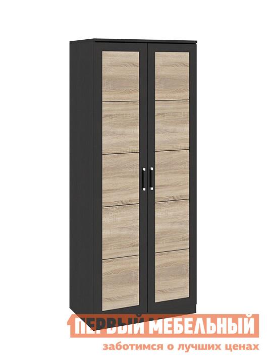 Шкаф распашной ТриЯ Токио СМ-131.08.004 Венге Цаво / Дуб СономаШкафы распашные<br>Габаритные размеры ВхШхГ 2302x934x586 мм. Двухдверный распашной шкаф — прекрасное решение для организации зоны хранения в любой комнате.  Данная модель, сочетающая в себе удобство и стиль, станет настоящим украшением вашего интерьера.  Шкаф оборудован длинной штангой для развешивания вешалок-плечиков и одной верхней полкой. Модель входит в серию модульной мебели и прекрасно компонуется с другими элементами.  Вы можете составить свой индивидуальный гарнитур из модулей коллекции. Изделие изготовлено из ЛДСП, ручки — пластик.<br><br>Цвет: Венге Цаво / Дуб Сонома<br>Цвет: Темное-cветлое дерево<br>Высота мм: 2302<br>Ширина мм: 934<br>Глубина мм: 586<br>Кол-во упаковок: 4<br>Форма поставки: В разобранном виде<br>Срок гарантии: 24 месяца<br>Тип: Прямые<br>Материал: из ЛДСП<br>Размер: Двухдверные