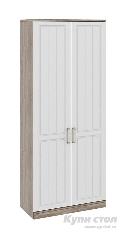 Шкаф распашной ТриЯ СМ-223.07.023 Дуб Сонома трюфель / КремШкафы распашные<br>Габаритные размеры ВхШхГ 2178x900x440 мм. Распашной двустворчатый шкаф — удобный элемент хранения одежды в любой комнате.  Внутри шкафа располагается штанга для вешалок и две полки.  Светлый цвет исполнения позволит разместить такой шкаф практически в любом интерьере. Корпус и полки изготавливаются из ЛДСП, двери — МДФ, ручки — металл.<br><br>Цвет: Белый<br>Цвет: Бежевый<br>Цвет: Коричневое дерево<br>Высота мм: 2178<br>Ширина мм: 900<br>Глубина мм: 440<br>Кол-во упаковок: 4<br>Форма поставки: В разобранном виде<br>Срок гарантии: 24 месяца<br>Тип: Прямые<br>Материал: Дерево<br>Материал: ЛДСП<br>Материал: МДФ<br>Размер: Двухдверные<br>Пол: Для девочек<br>Пол: Для мальчиков