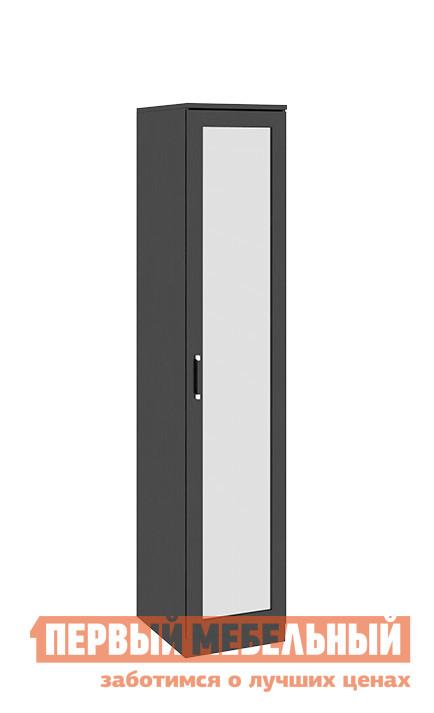 Шкаф распашной ТриЯ Токио СМ-131.07.002 Венге ЦавоШкафы распашные<br>Габаритные размеры ВхШхГ 2302x468x586 мм. Функциональный распашной шкаф обеспечит удобство хранения в спальне, гостиной, любой комнате.  Зеркальная дверца позволит видеть свое отражение в полный рост, а также визуально сделает данный шкаф практически незаметным в интерьере.  Он оборудован пятью полками, также в комплект входит штанга для одежды.  Вы сами можете выбрать удобное для вас наполнение шкафа. Изделие универсально — направление открытия двери определяется при сборке. Модель входит в серию модульной мебели и прекрасно компонуется с другими элементами.  Вы можете составить свой индивидуальный гарнитур из модулей коллекции. Изделие изготовлено из ЛДСП.  Дверца — ЛДСП и зеркальное полотно, ручки — пластик.<br><br>Цвет: Венге Цаво<br>Цвет: Венге<br>Высота мм: 2302<br>Ширина мм: 468<br>Глубина мм: 586<br>Кол-во упаковок: 3<br>Форма поставки: В разобранном виде<br>Срок гарантии: 24 месяца<br>Тип: Прямые<br>Материал: из ЛДСП<br>Размер: Однодверные<br>Особенности: С зеркалом