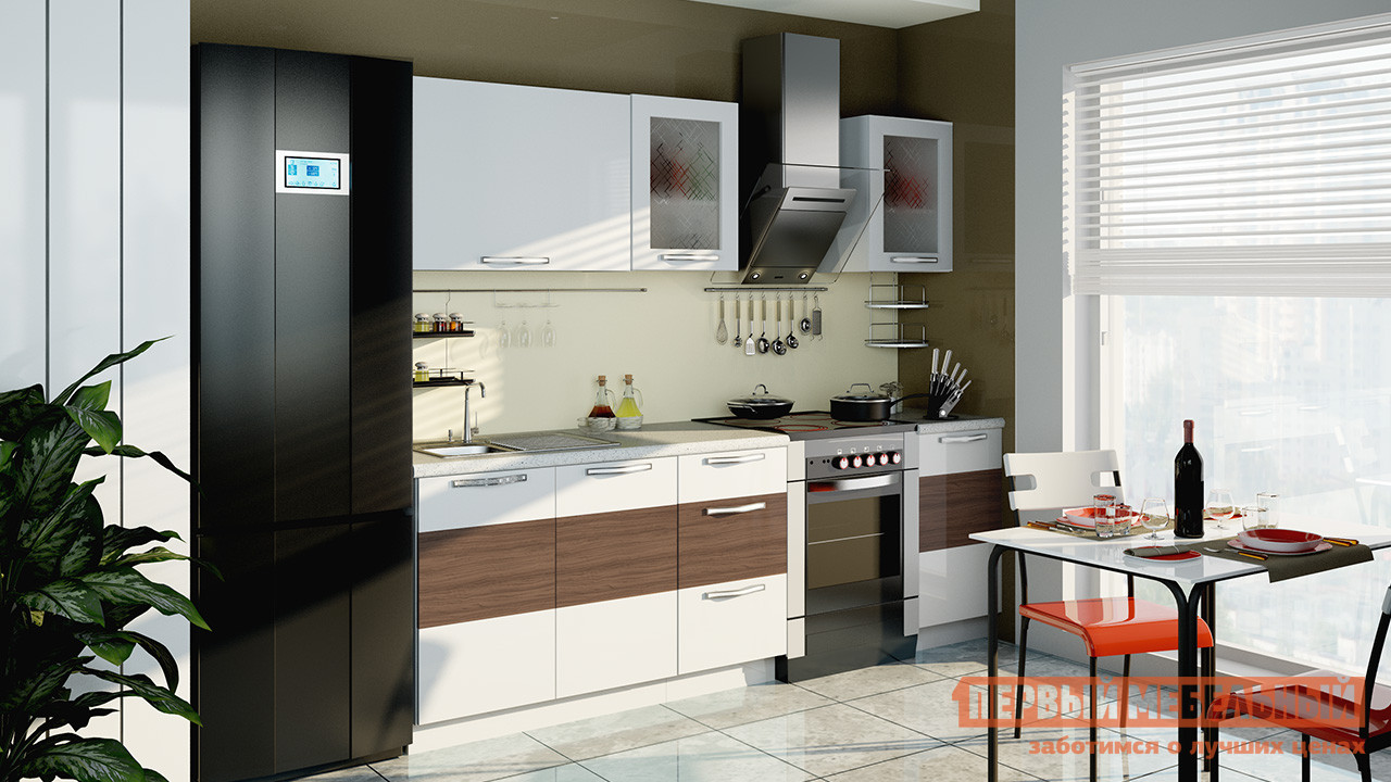 Кухонный гарнитур ТриЯ Оливия 180 см кухонный гарнитур трия ассорти вишня 2 240 х 210 см