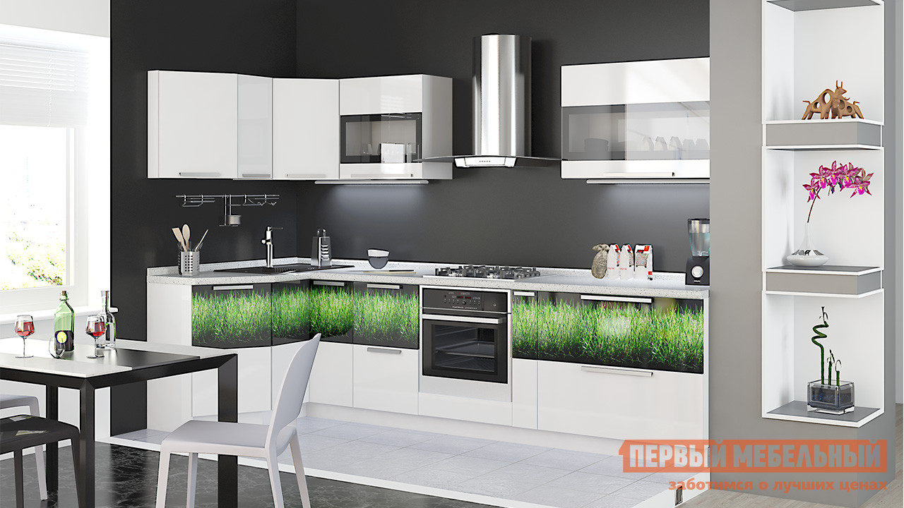 Кухонный гарнитур ТриЯ Фэнтези №4 300 х 130 см кухонный гарнитур трия ассорти вишня 2 240 х 210 см