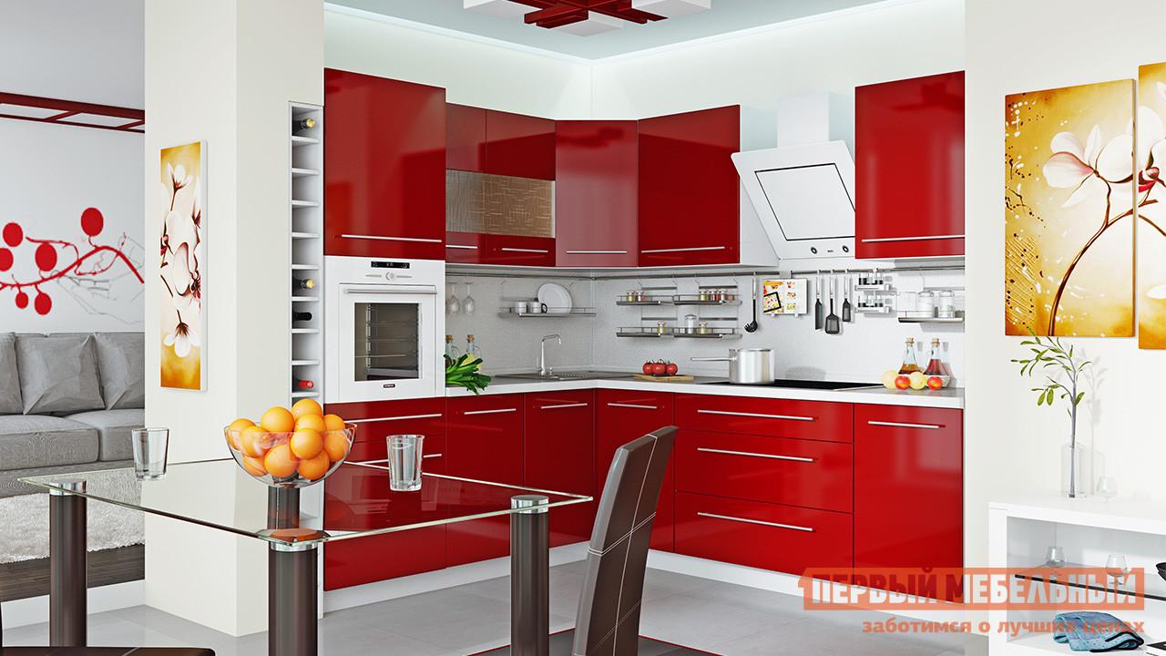 Кухонный гарнитур ТриЯ Ассорти Вишня №2 240 х 210 см спальный гарнитур трия лючия к2