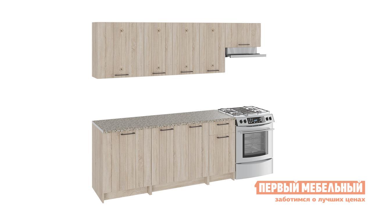Кухонный гарнитур ТриЯ Эстель 240 см 2 кухонный гарнитур трия ассорти вишня 2 240 х 210 см