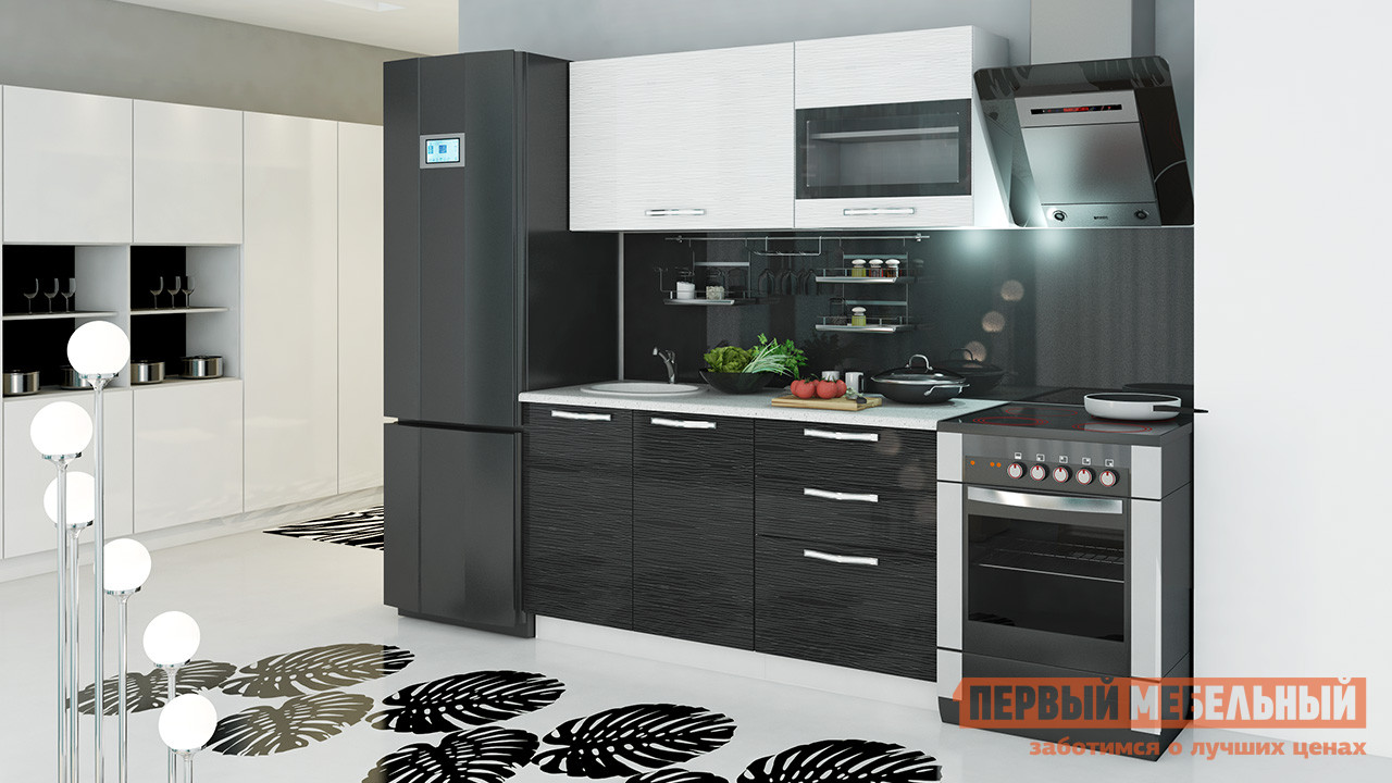 Кухонный гарнитур ТриЯ Скайлайн 150 см кухонный гарнитур трия ассорти вишня 2 240 х 210 см