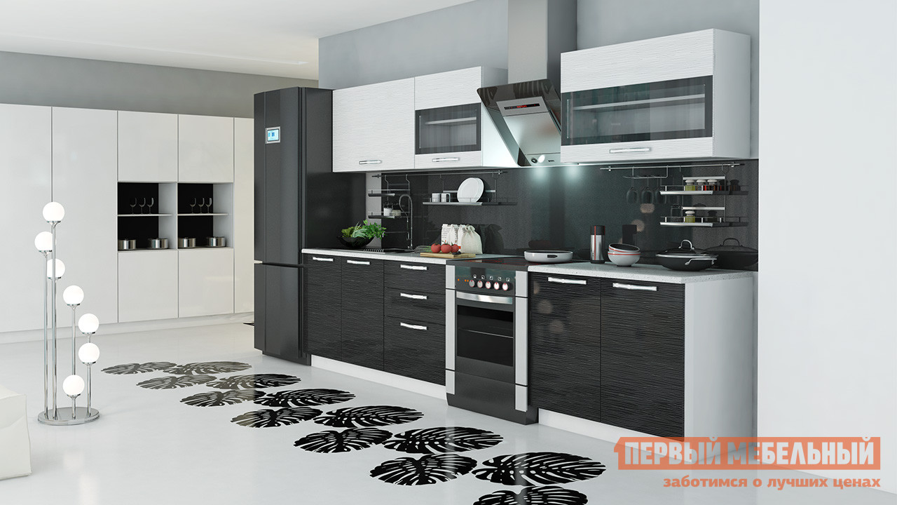 Кухонный гарнитур ТриЯ Скайлайн 300 см кухонный гарнитур трия ассорти вишня 2 240 х 210 см