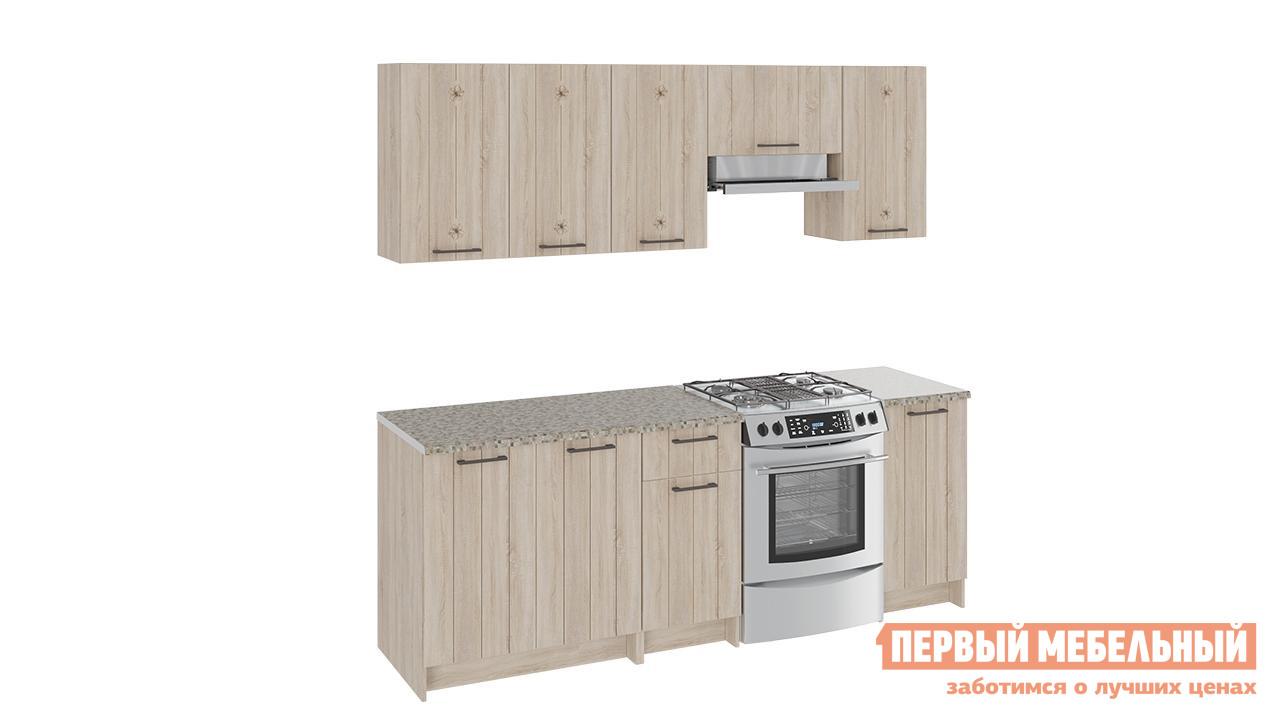 Кухонный гарнитур ТриЯ Эстель 220 см кухонный гарнитур трия оливия 240 см