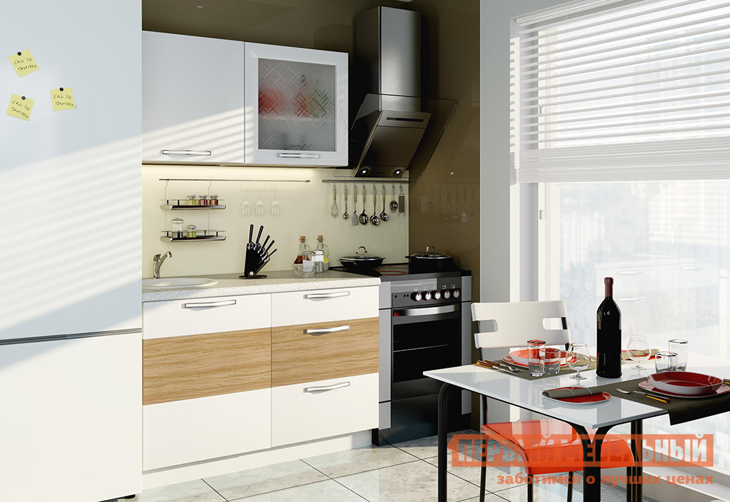 Кухонный гарнитур ТриЯ Оливия 120 см кухонный гарнитур трия ассорти вишня 2 240 х 210 см