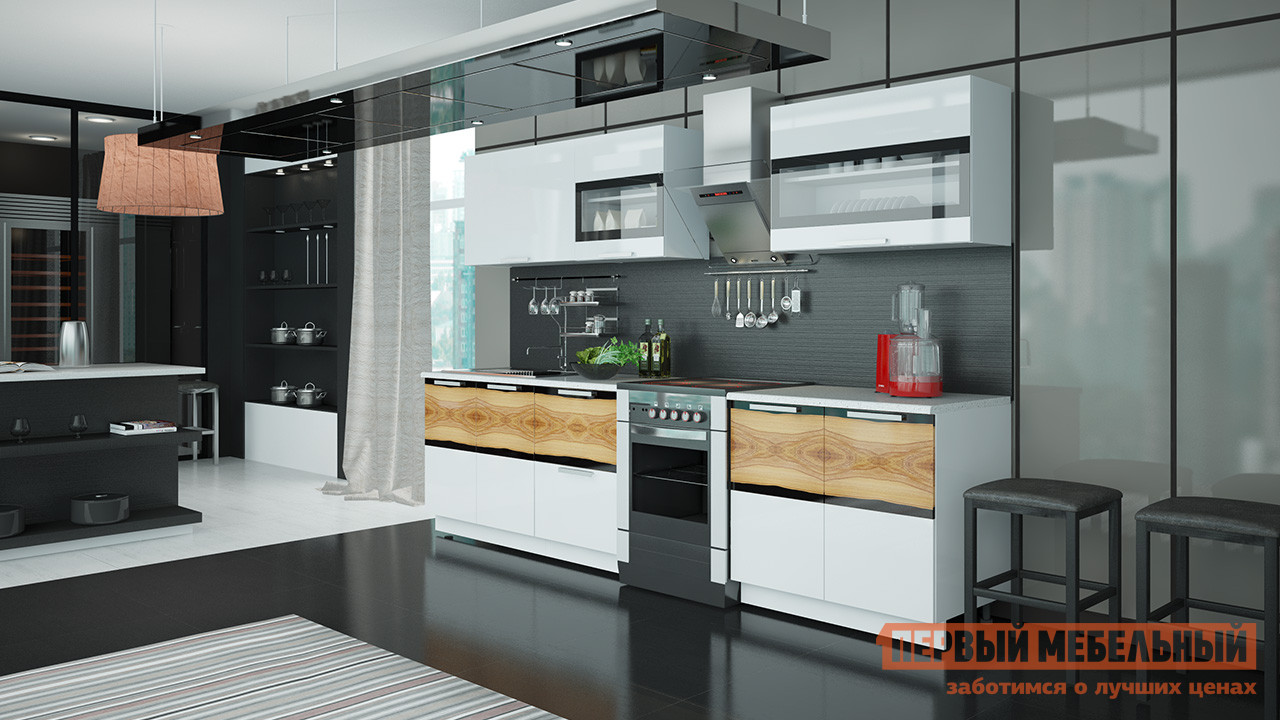 Кухонный гарнитур ТриЯ Фэнтези 300 см кухонный гарнитур трия ассорти вишня 2 240 х 210 см