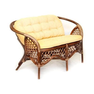 Плетеный диван ЭкоДизайн 1305С Браун