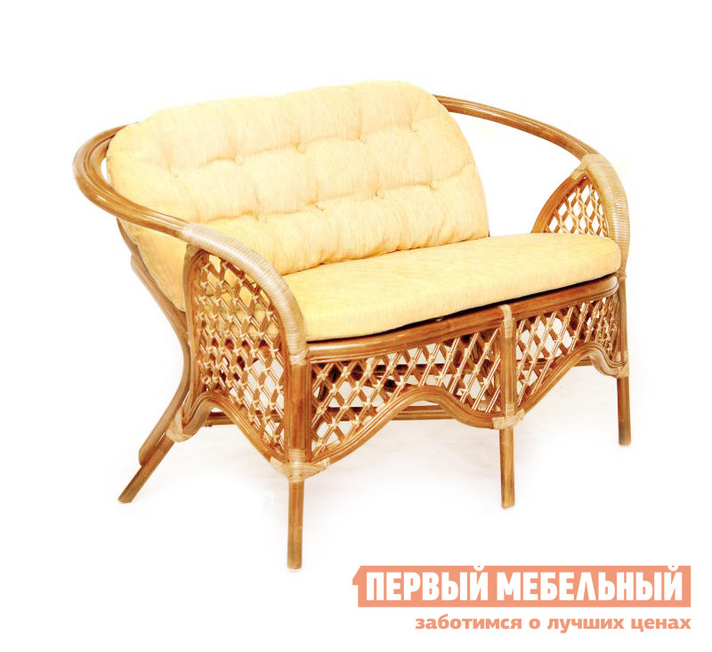 Плетеный диван  1305С Коньяк