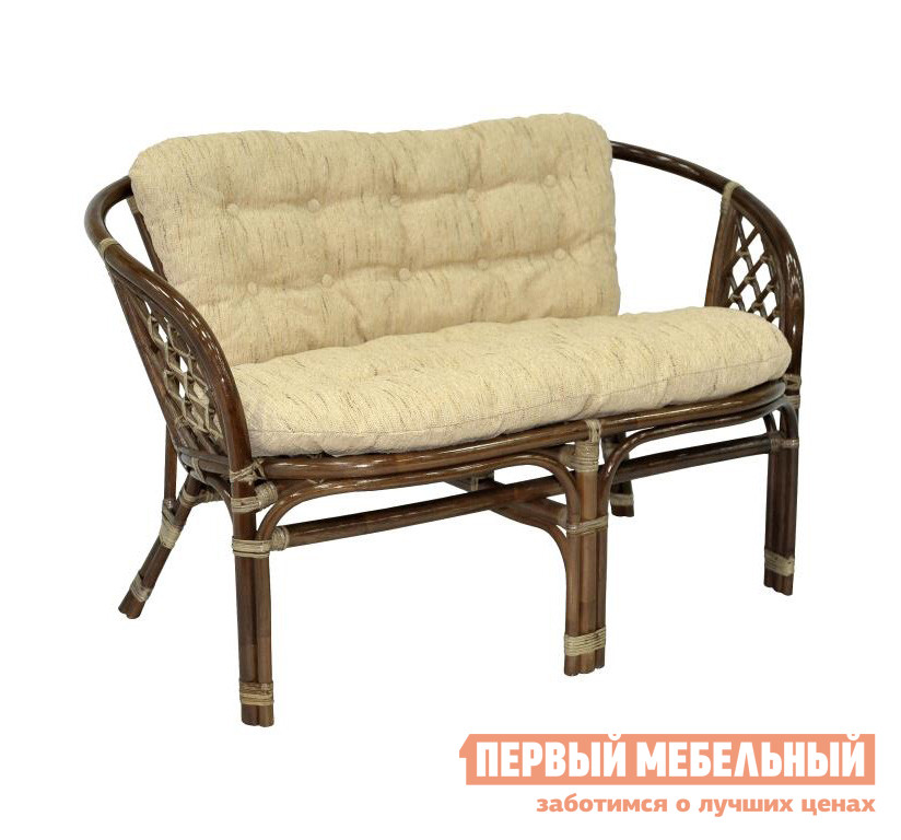 Плетеный диван для дачи ЭкоДизайн 03/10C