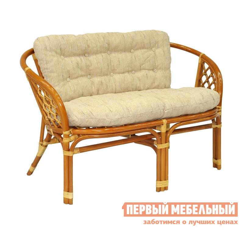 Плетеный диван ЭкоДизайн 03/10C Коньяк
